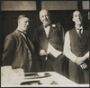 Billiards players Walter Lindrum and Tom Newman with Lord Lonsdale