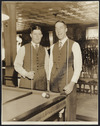 Billiards players Walter Lindrum and Tom Newman