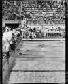 Finish of the women's 220-yards swim, Olympic Pool, 1950 British Empire Games, Auckland