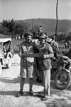 New Zealand Prime Minister Peter Fraser and General Freyberg study a map near Sora, Italy, during World War 2