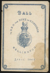 Ball to H. R. H. Duke of Edinburgh, Wellington, April 1869 / Richardson & Lloyd, Wellington [engraver. Programme cover]. 1869.