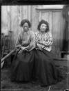 Two elderly Maori women