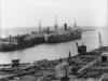 Moturoa wharf and the ship Port Caroline