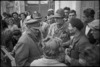 Lieutenant General Sir Bernard Freyberg talking to the leader of a local partisani group, Italy - Photograph taken by George Kaye