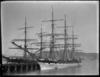 Ships Pleione and Hurunui at Railway Wharf, Wellington, February 1886