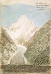 Haast, Johann Franz Julius von, 1822-1887: Mt Cook with Hooker Glacier from Muller Glacier, 5 April [18]62.