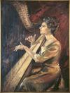 Lynch, Julia Bridget, 1896-1975 :Nocturne ; [portrait of Dorothea Franchi. 1962]