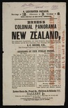 Brees's colonial panorama of New Zealand, the longest painting in the world; illustrating emigration, the settlers and the New Zealanders; from drawings taken on the spot by S. C. Brees, C. E., late Principal Engineer to the New Zealand Company. [Advertising flyer] [London] J. Carrall, Printer, 275 Strand [1849]
