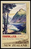 New Zealand Railways Publicity Branch: Fiordland, Southland; scenic trip by train & railway motor / N.Z. Railways Studios. Issued by the N.Z. Railways Publicity Branch. [ca 1938-1939]