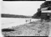 Children at Hall's Beach, Northcote, Auckland