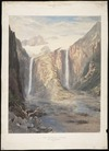 Gully, John 1819-1888 :Two Waterfall Glacier, Valley of the River Macaulay, 4080 feet. [1862]