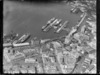 Aerial view of Wellington Harbour and the wharves