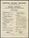 Crystal Palace Theatre. Maggie Papakura, the Arawa warriors and Maori maidens. Programme [1911]