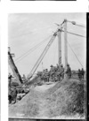 Construction of iron bridge by New Zealand engineers in France
