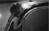 Girl and escalator