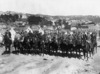 Massey's Special Constables on horseback at Mount Cook Barracks, Wellington, during the 1913 Waterfront Strike