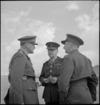 General Freyberg talking with Brigadier MacCormick and Lieutenant Colonel Fisher at Maadi, World War II - Photograph taken by M D Elias