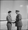 Captain S B Thompson, DSO, congratulated by General Freyberg at Maadi, World War II - Photograph taken by M D Elias