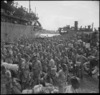 Troops of 2 NZ Division on wharf at Alexandria en route to Italy, World War II - Photograph taken by M D Elias