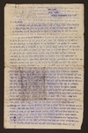 H F Davis - Inward correspondence