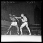 Boxing match at Wellington Town Hall, Keith Saunders vs. Tuna Scanlan