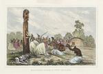 [Sainson, Louis Auguste de], b 1800 :Mourning scene in New Zealand. [London, 1836?]