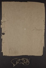 Bulls original wrapper and sewing fragments: Bull's Roarer and Tutaenui Skunk