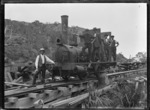 "Erecting a locomotive, Piha. Steam locomotive ""A"" class no. 62 (0-4-0T type)"