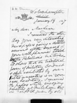 3 pages written 19 Jan 1867 by Allan Maclean Skinner to Sir Donald McLean, from Inward letters - Surnames, Sin - Sma