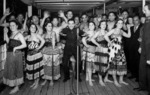 Ngati Poneke concert party on the promenade deck of the Wanganella