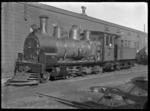 J class steam locomotive, NZR 118, 2-6-0 type.