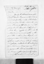 2 pages written 16 Apr 1845 by John Skevington to Sir Donald McLean, from Inward letters - Surnames, Sin - Sma