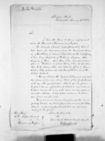 1 page written 14 Jan 1866 by D George Smale in Wellington to Sir Donald McLean, from Inward letters - Surnames, Sin - Sma