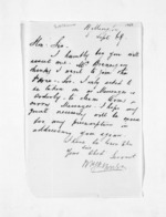 1 page written 8 Sep 1869 by William Henry Skinner in Wellington, from Inward letters - Surnames, Sin - Sma