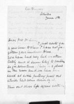 2 pages written by Robert G Skinner in Akitio to Sir Donald McLean, from Inward letters - Surnames, Sin - Sma