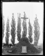 The grave of New Zealand army chaplain James Joseph McMenamin killed in World War I, France