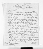 3 pages written 3 Feb 1874 by Frederick Green Skipworth in Poverty Bay to Sir Donald McLean, from Inward letters - Surnames, Sin - Sma