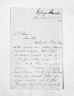 2 pages written 11 Oct 1863 by Eliza Small in Auckland Region to Sir Donald McLean, from Inward letters - Surnames, Sin - Sma