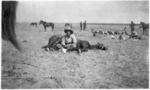 Corporal Williams and his horse, southern Palestine, during World War 1