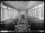 Interior view of the Sentinel-Cammell steam rail car.