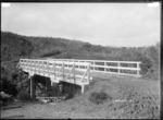 Mangakino Bridge, Te Uku, near Raglan, 1910 - Photograph taken by Gilmour Brothers
