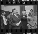 Prime Minister David Lange meeting with Labour's new Members of Parliament - Photograph taken by Ross Giblin