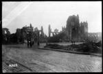 View of ruins in Ypres, Belgium