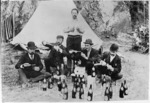 Scandinavian picnic with beer bottles, Lowry Bay
