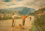 [Presants, Philip Robert], 1867-1942 :Young New Zealand at play; cricket in a mining town. [Christchurch, Weekly Press, 28 October, 1899].