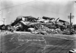 Ruins of the nurses' home in Napier after the 1931 earthquake