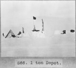 View of the camp at 1 Ton Depot, Antarctica - Photograph taken by Captain Robert Falcon Scott