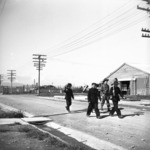 Fatigue squad on the way to work, at the Japanese prisoner of war camp near Featherston