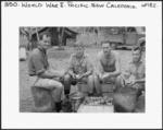 New Zealand soldiers peeling potatoes, New Caledonia, during World War II