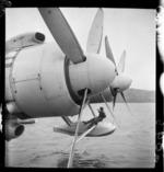 Flying boat landing apparatus